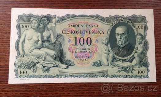 Staré bankovky - První republika 100 korun 1931 pěkná - 1