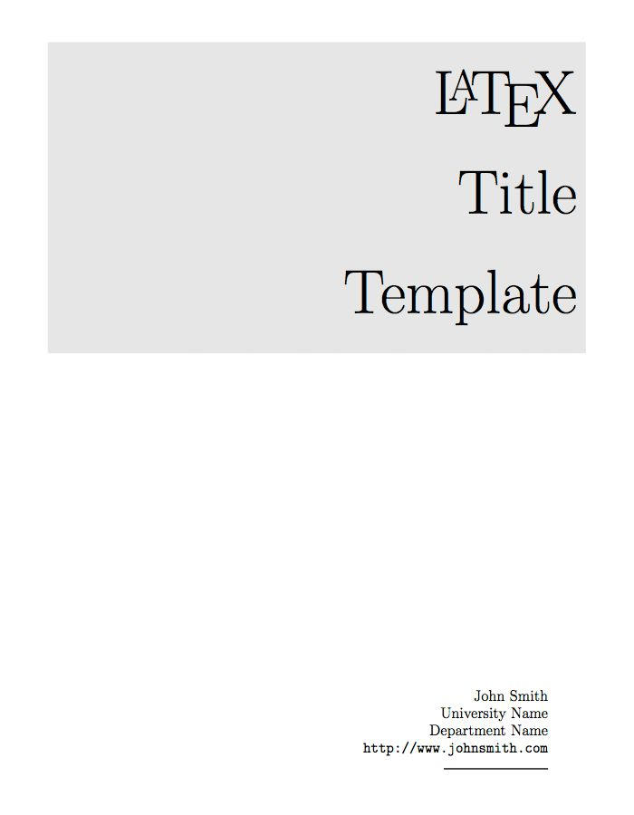 The  Best Title Page Template Ideas On   Web Page