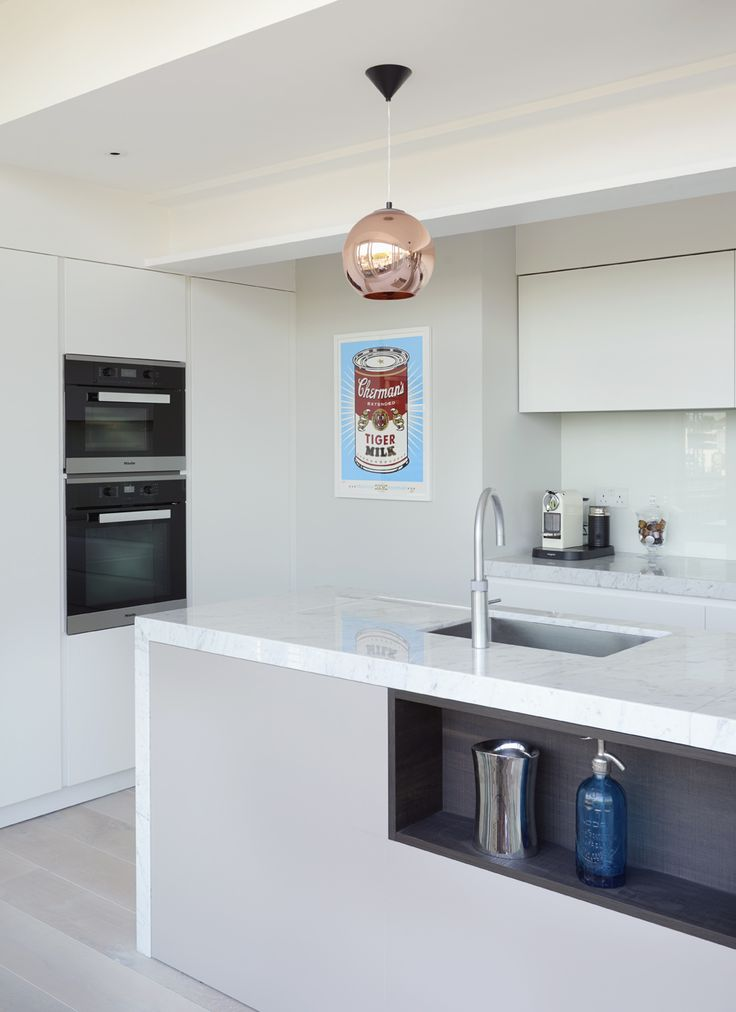 This bespoke kitchen, designed by Luke Beveridge at DesignSpace London is a masterclass in spatial planning, siting a generously-proportioned and highly functional kitchen within a relatively narrow space designspacelondon.com