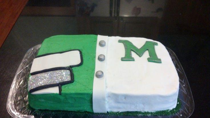Marching Band Uniform cake for senior night
