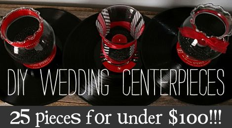 Red White and Black Wedding Centerpieces | Get Ready Set Go: DIY Wedding CenterPieces for under $100!?!?