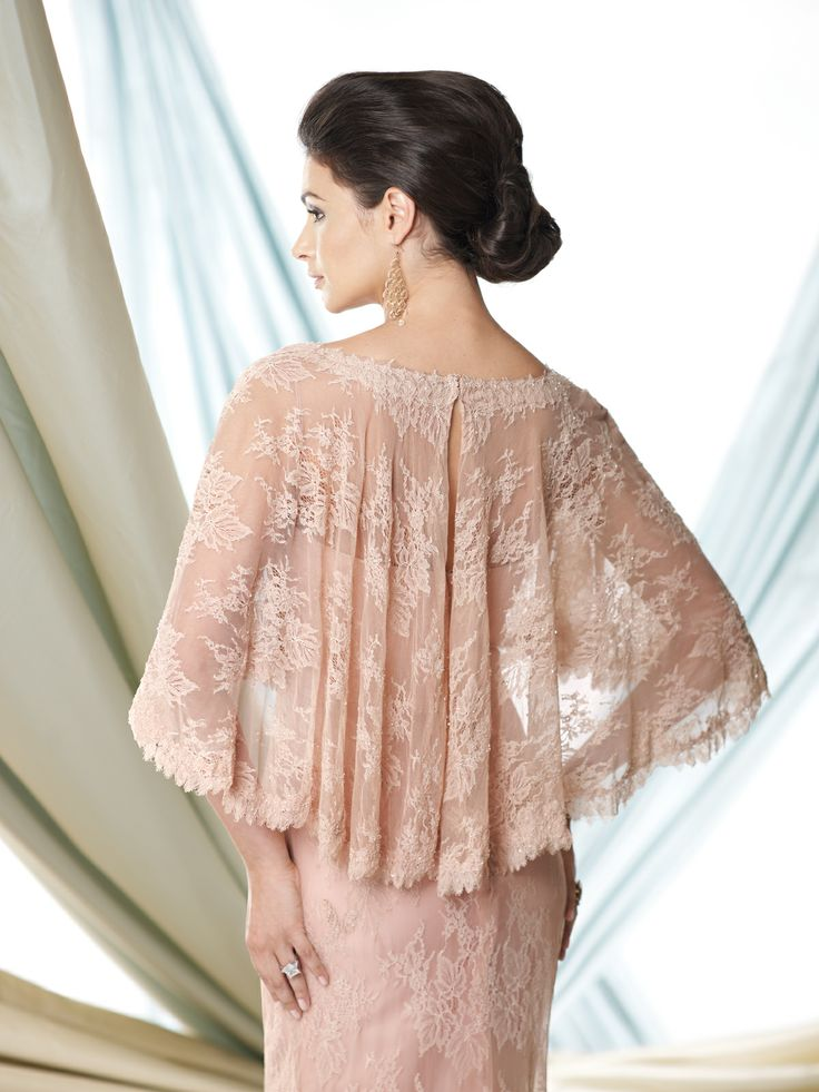 Cameron blake mother of the bride dress mushroom color shawl