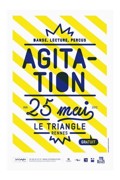 Affiches et programmes pour le Triangle, scène conventionnée danse de Rennes  Brest Brest Brest