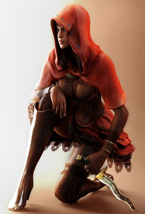 Sheva Alomar (シェバ・アローマ) from Resident Evil (バイオハザード )  She was introduced in 2009's Resident Evil 5 as a native African operative of the Bioterrorism Security Assessment Alliance (BSAA) and a new partner of the series' veteran Chris Redfield.