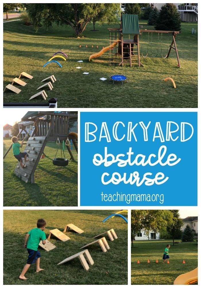 Backyard Obstacle Course Backyard Obstacle Course Kids Obstacle Course Toddler Obstacle Course