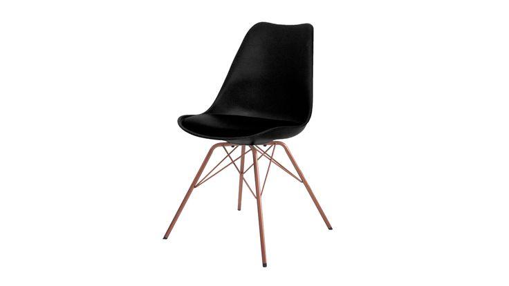 Eetstoel Concept 1001 Gina-Porgy zwart-zwart-koper