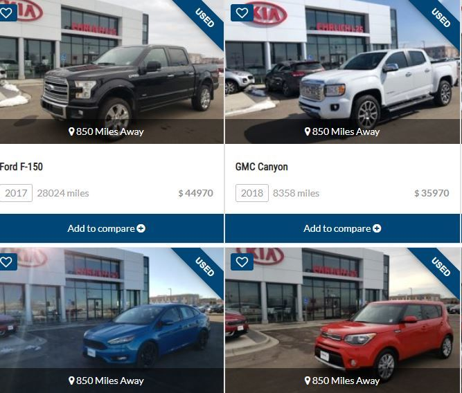 Search Our Extensive Inventory Of Used New Cars Pickup Trucks In