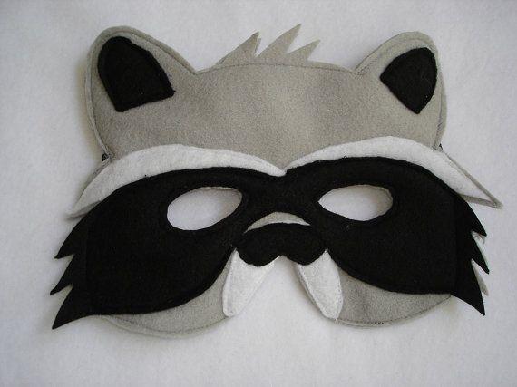 Children's RACCOON Felt Mask por magicalattic en Etsy, $12.50