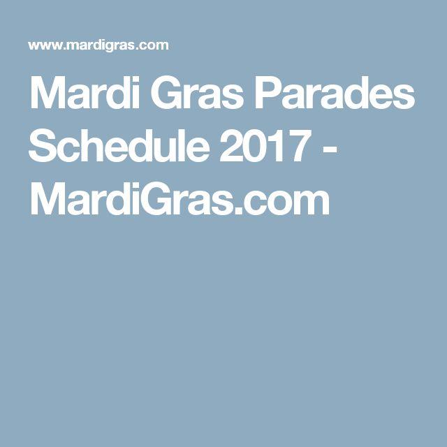 Mardi Gras Parades Schedule 2017 - MardiGras.com