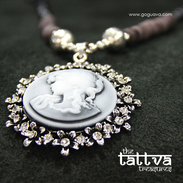 Monalisa Pendant And Beaded Chain : Back to the bygone era with this vintage-style necklace!  Buy Now : http://bit.ly/1oMRL94