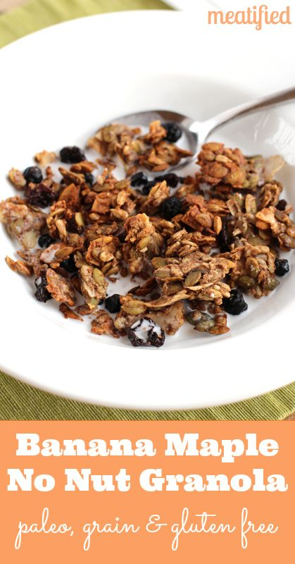 Crunchy Banana Maple Nut Free Granola from http://meatified.com #paleo ...
