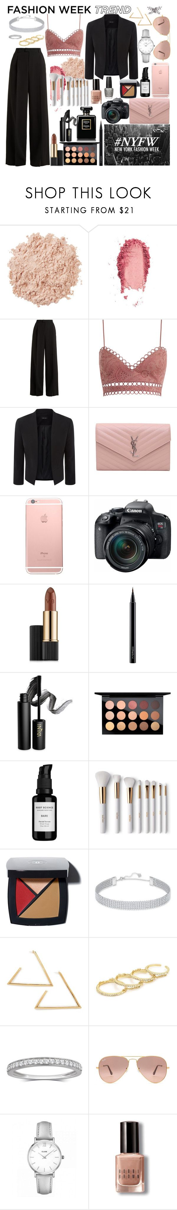 """""""Trend Report: New York Fahion Week"""" by lifestyleduckling ❤ liked on Polyvore featuring La Mer, SkinCare, RED Valentino, Zimmermann, Yves Saint Laurent, Eos, Estée Lauder, MAC Cosmetics, INIKA and Root Science"""