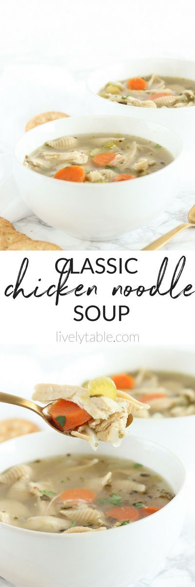 An easy recipe for comforting, nourishing chicken noodle soup just like your grandma used to make. (#dairyfree, #nutfree, #glutenfree option). Plus a look at how food can affect your #fertility. (AD) #soup #winterfood #fertilityfoods #chickennoodlesoup #comfortfood | via livelytable.com
