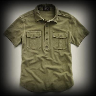 ダブルアールエル メンズ ポロシャツ RRL Short Sleeved Military Polo ポロシャツ-アバクロ 通販 ショップ-【I.T.SHOP】 #ITShop
