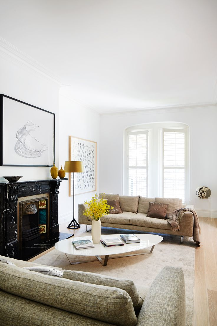Formal living room from Melbourne heritage home renovation by Footman Architects and SJB Interiors. Photography: Armelle Habib | Styling: Julia Green | Story: Australian House & Garden