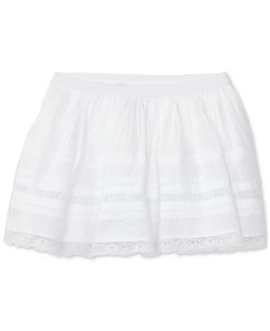 Ralph Lauren Lace-Trim Skirt, Toddler & Little Girls (2T-6X) - White