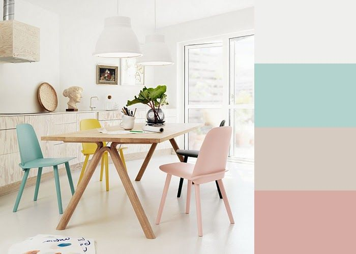 lichte kleuren in combinatie met natuurlijke materialen