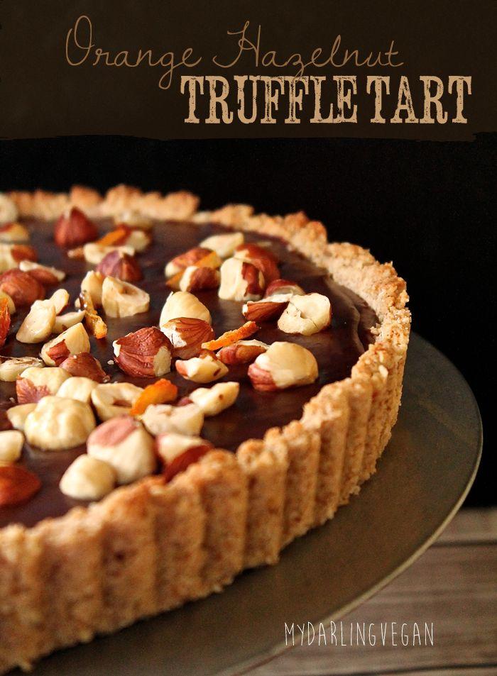 Chocolate Orange Hazelnut Truffle Tart