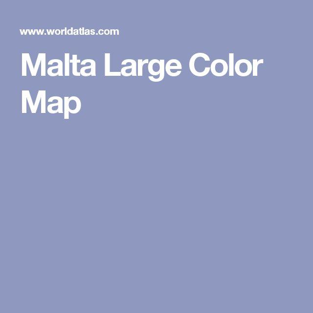 Malta Large Color Map