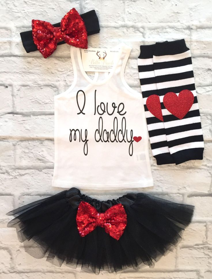 A personal favorite from my Etsy shop https://www.etsy.com/listing/529311169/baby-girl-clothes-i-love-my-daddy-tank