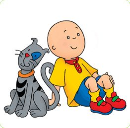 Gilbert & Caillou - both of my boys love this show. It calms them both down so I like it too.