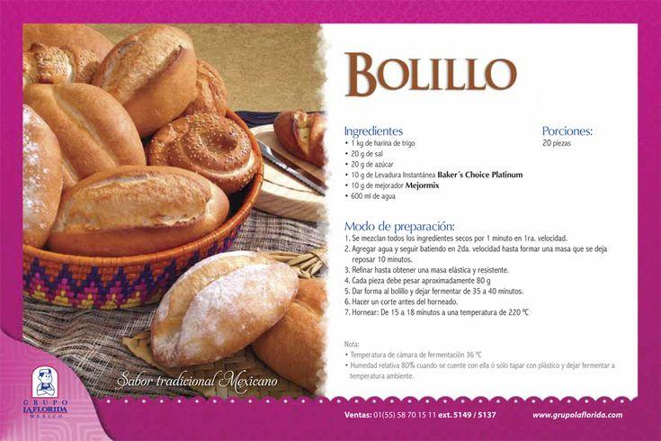 #Recetas #Fáciles #Bolillo