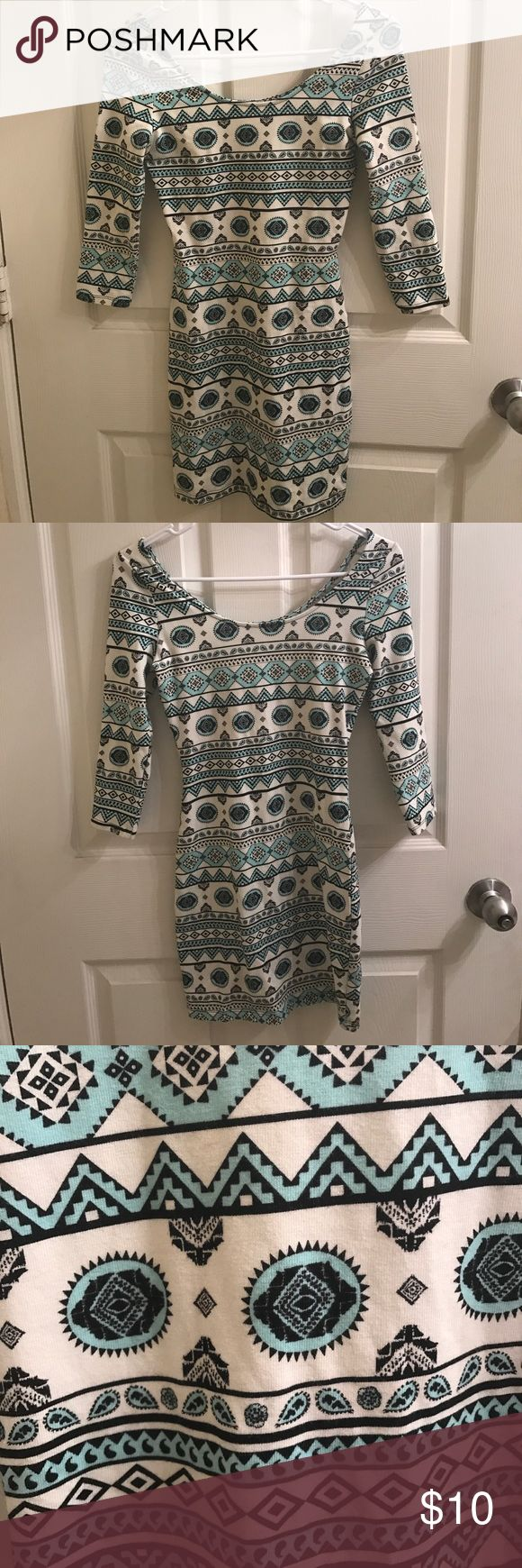 Small blue charlotte ruse dress Blue and white mini dress. New, never worn Charlotte Ruse. Charlotte Russe Dresses Mini