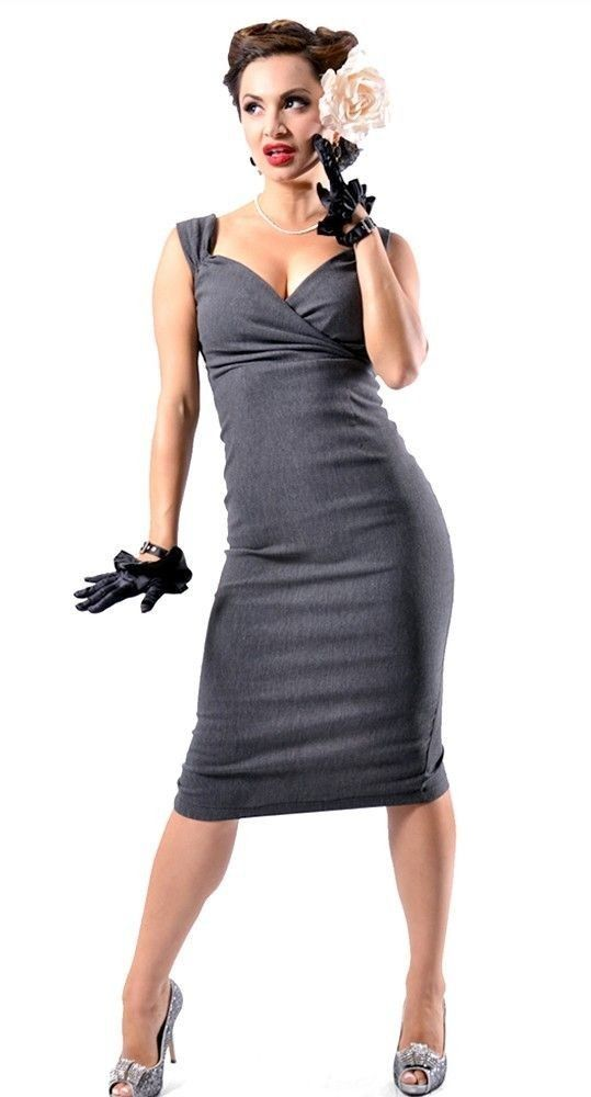 Steady clothing charcoal diva pin up wiggle dress nwt - Diva pants ebay ...