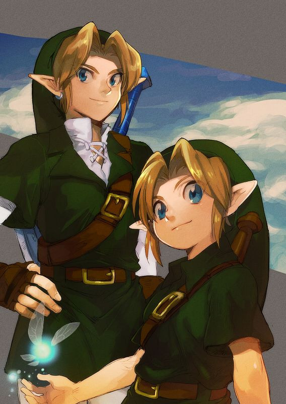 The Legend of Zelda: Ocarina of Time, Young Link, Adult Link, and Navi / 「ゼルダログ」/「aoki」の漫画 [pixiv] [02]