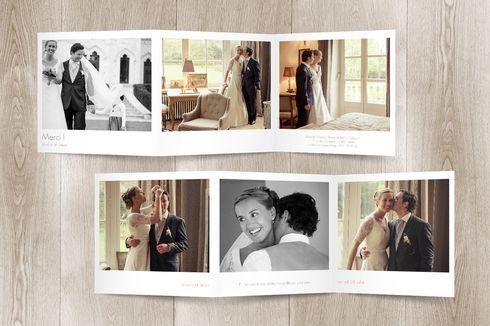 carte de remerciement mariage moderne photos (triptyque)