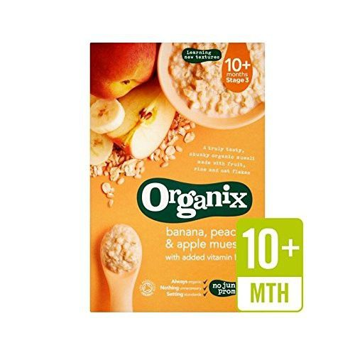 Organix Cereals Apple, Peach & Banana Muesli - Stage 3 200g - Pack of 6