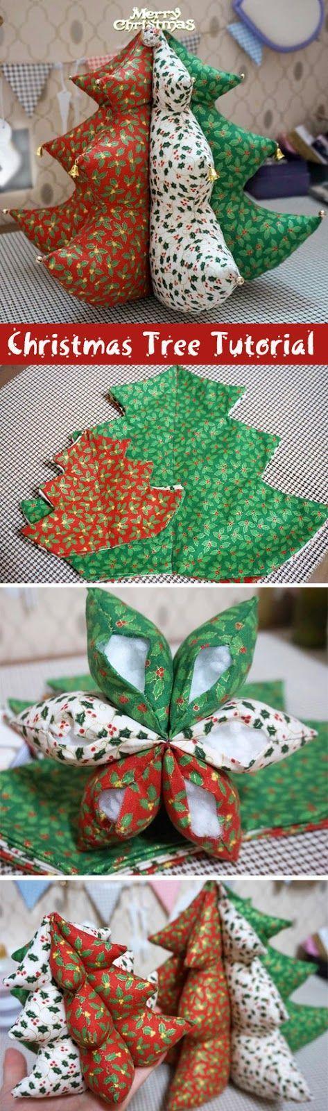 Рождественская елка. Мягкая игрушка своими руками. Christmas Tree. Soft Toy. DIY step-by-step tutorial. http://www.handmadiya.com/2015/09/christmas-tree-soft-toy-tutorial.html