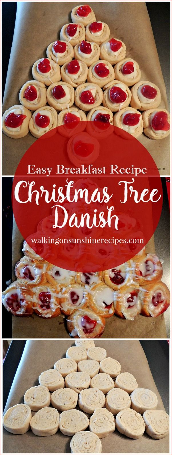 Christmas Tree Cream Cheese Danish - Easy Last Minute Breakfast Recipe from Walking on Sunshine Recipes