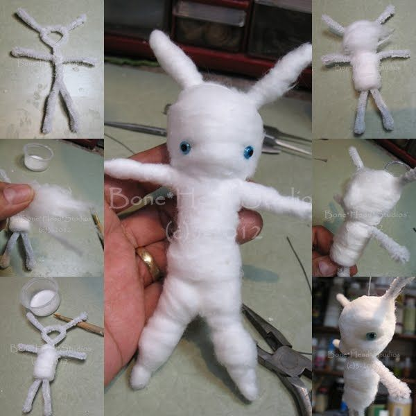 Bone Head Studios: spun cotton tutorials