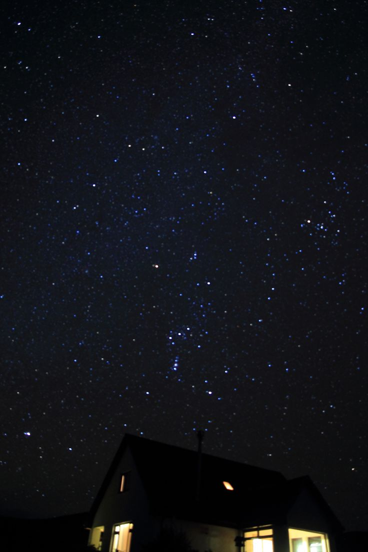 The night sky above Carters can be amazing on a clear night with the lack of light pollution--here's Orion above our roof.