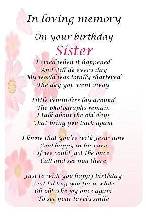 Image Result For Happy Birthday In Heaven Sister Heaven