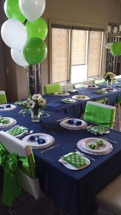 Bow tie themed baby shower