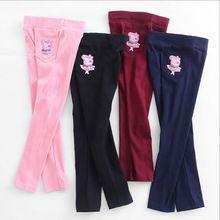 4-11Y Nueva Muchacha Del Verano de Los Pantalones de Los Niños Pantalones de Las Polainas de Cintura Elástica Pantalones Casuales Para Niñas(China (Mainland))