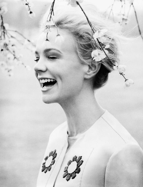deprincessed:  In Full Bloom: Carey Mulligan wearing Prada and surrounded by cherry blossom on the very delicate cover of Harper's Bazaar UK June 2013 shot by Tom Allen