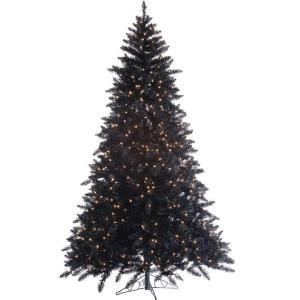 pre lit ashley black artificial christmas tree with clear lights at the home depot mobile - Home Depot White Christmas Tree