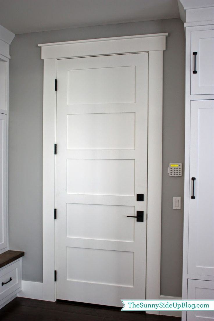 Garage door interior trim - Mudroom Q A White Interior Doorsinterior