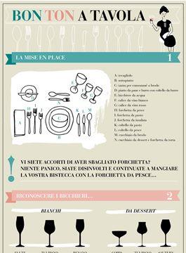 Gomiti a tavola, bocconi enormi o rumori da suzione di brodo: stare a tavola è un piacere, ma solo se accompagnato dalle buone maniere! Scopri il bon ton a tavola con la nostra infografica.