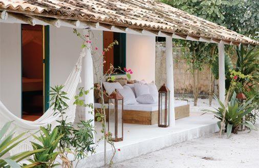 Casa em Trancoso, na Bahia, com jeito de cabana de pescador - Casa
