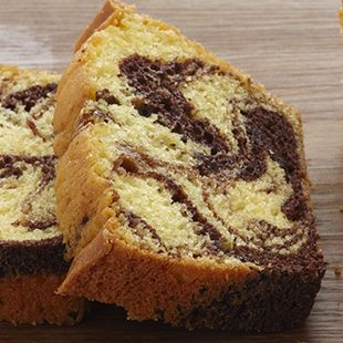 Chocolate lovers, we've created this Fudge Marble Pound Cake especially for you. Enjoy it with a steamy cup of hot cocoa or a chilled glass of milk.