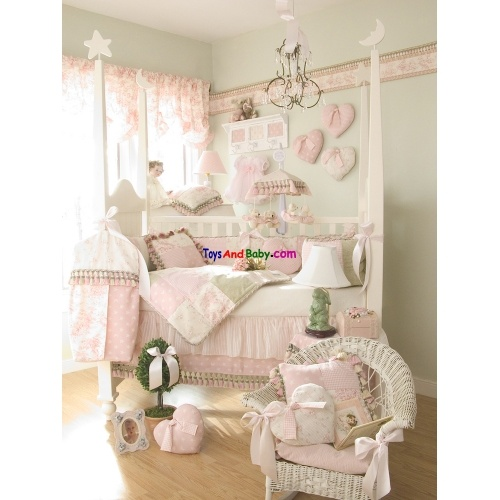 Glenna Jean Isabella 5 Piece Baby Crib Bedding Set With Rosebud Pillow Free Shipping Anywhere