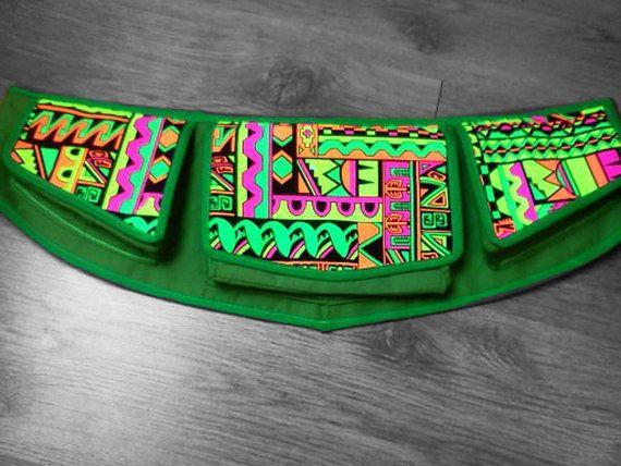 Neon, Psychedelic, Uv reactive Festival Hip Bag / Fanny Pack / Belt Bag /Utility belt