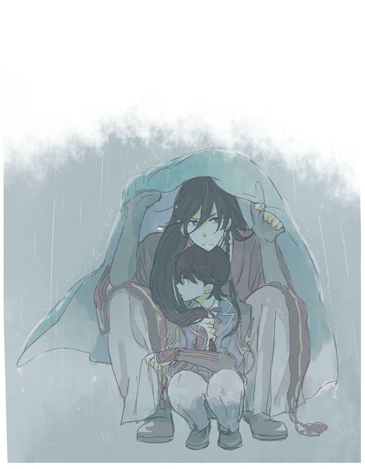 """Touken Ranbu ukaukalog: """"雨、止まないねえ """""""