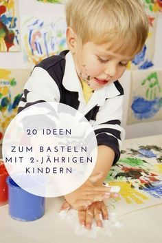 Tolle Bastelideen für 2-jährige Kinder aus verschiedenen Materialien