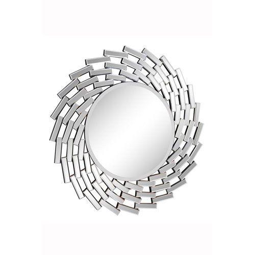 Modern Clear 42-Inch Round Mirror