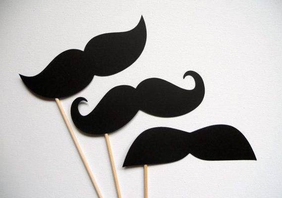 Big Ol' Mustache Photo Booth Props . Giant by ThePropMarket